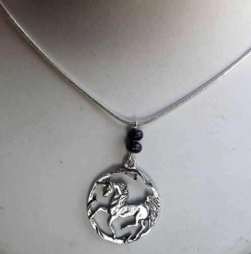 Details about  /Fantasy Horse Necklace Silver tone Pendant gift Jewellery