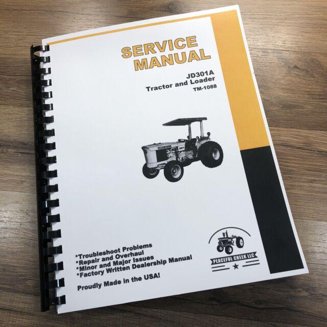 Service Manual For John Deere Jd 301a Tractor Loader