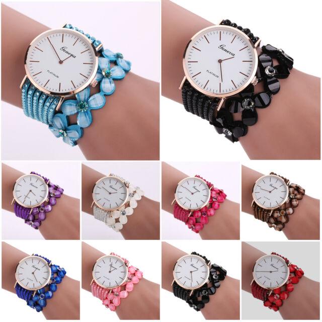 Fashion Crystal Luxury Womens Quartz Bracelet Watch Dress Diamond Wrist Watches