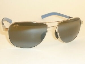classic fit check out new concept Details about New Authentic Polarized MAUI JIM GUARDRAILS Sunglasses 327-17  Silver Frame