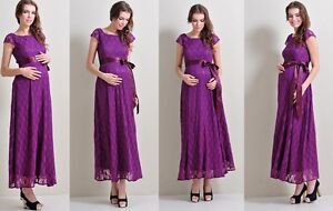 Image Is Loading Maternity Evening Dress Baby Shower Wedding Bridal Party