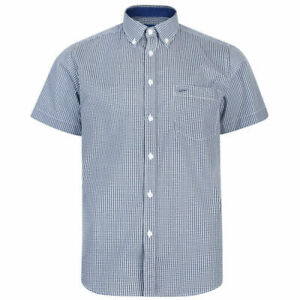 New-Mens-Kam-Big-Tall-Size-Button-Down-Collar-Collared-Short-Sleeve-Dress-Shirt