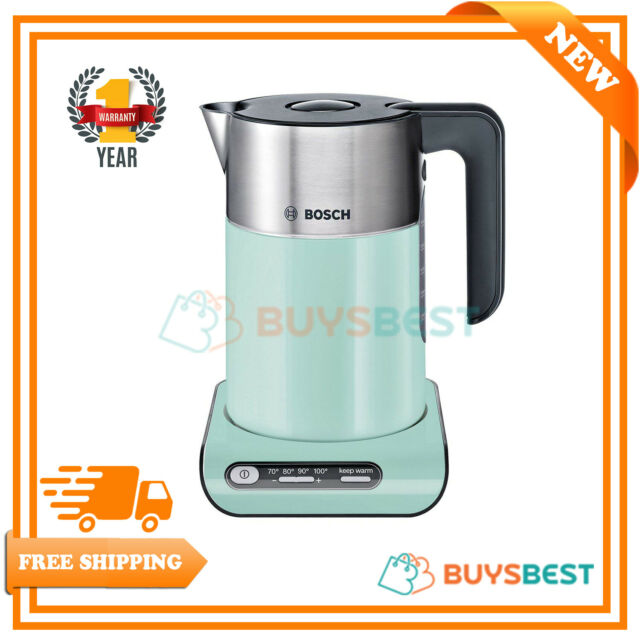 98f51841409 Bosch Styline Collection Rapid Boil 1.5L Jug Kettle In Turquoise -  TWK8632PGB