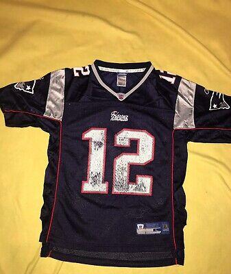 Vintage Tom Brady #12 New England Patriots Reebok NFL Jersey, Sz Youth Large | eBay