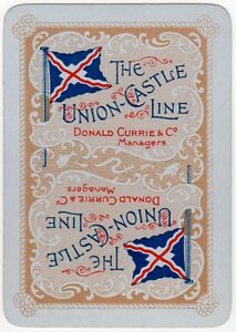 Playing-Cards-Single-Card-Old-Wide-UNION-CASTLE-LINE-Shipping-Advertising-Art-5