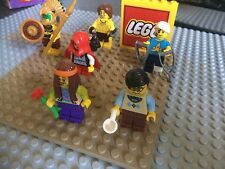 Lego Series 7 Mini Figures Bundle Hippie Cave Boy Crutches Aztec Red Hood