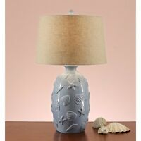 Seashell Ceramic 28-inch Table Lamps (set Of 2)