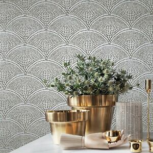 Mica-Vermiculite-Gray-silver-metallic-gold-Arthouse-Scales-Natural-Wallpaper-3D