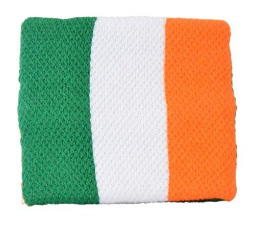 Schweißband Fahne Flagge Irland 7x8cm Armband für Sport