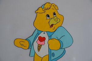 1988-TREAT-HEART-PIG-Nelvana-Care-Bear-Production-Animation-Cel-amp-Pencil-Sketch