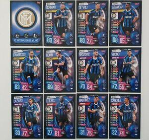 2019-20-Match-Attax-UEFA-Soccer-Cards-Inter-Milan-Team-Set