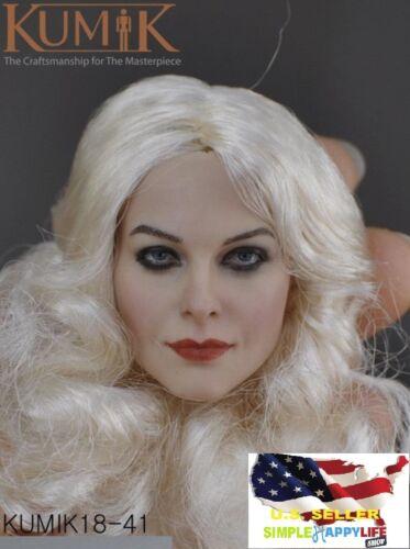 "1//6 Female Head Sculpt KUMIK KM 18-41 white hair For 12/"" figure Hot Toys ❶USA❶"
