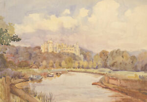 Mid-20th-Century-Watercolour-Burghley-House