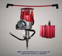 Mopar Small Block 273-318-340-360 Red Small Cap Hei Distributor & 50,000 V Coil