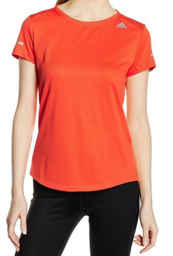 Adidas Women/'s Climalite Run S//Sleeve Shirt ORANGE AI7963