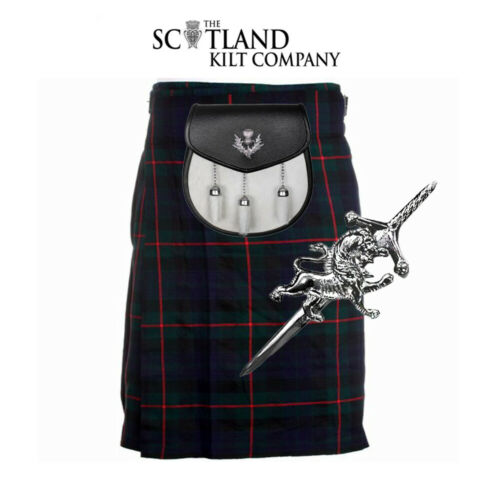 3 Piece Package - 5 Yard Kilt And Pin And Sporran -sizes 30-44 - Gunn Modern