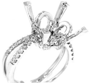 Estate-Ring-Setting-VS1-Diamond-1-02ct-18k-White-Gold