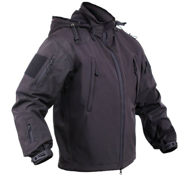Men's Black Concealed Carry Soft Shell Tactical Jacket Waterproof Coat