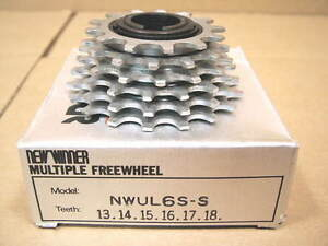 w//Silver Finish New-Old-Stock Suntour Winner Pro 5-Speed Freewheel 13x23