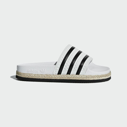 Adidas CQ3092 Damen Badeschuhe Adilette New Bold Sandals white black