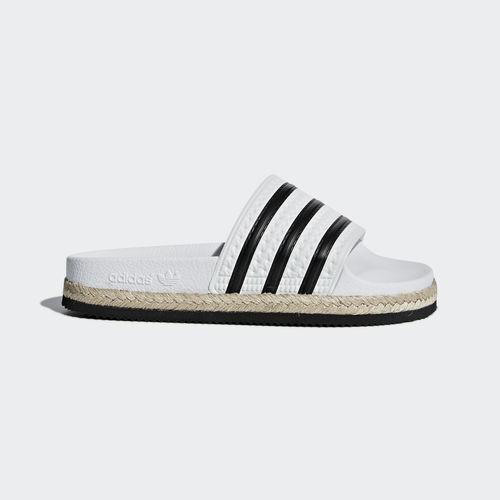 Adidas CQ3092 Women Swim Slippers Adilette New Bold Sandals white black