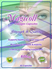 Colágeno Cápsulas (hidrolizada) 1200mg, Hair, Skin, Nails Anti Envejecimiento Anti Arrugas