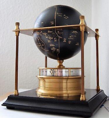 Gehorsam Imhof Weltzeituhr 8 Tage-werk 15 Steine Buffetuhr 70er 80er Vintage Kamin-uhr Exzellente QualitäT
