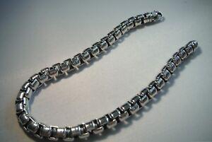 846bee7f814c7 David Yurman Sterling Silver .925 Men`s Medium Box Chain Bracelet