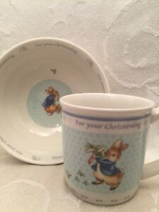 BEATRIX POTTER PETER RABBIT CLASSIC BOWL AND SPOON SET BNIB