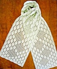 AWESOME DIAGONAL GARTER SCARF to KNIT in DK or SPORT WEIGHT YARN by FIBER TRENDS