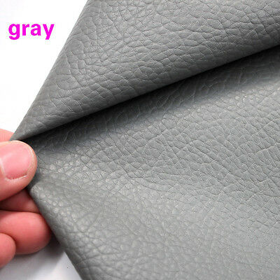 "Gray Big Lychee PU leather Faux Leather Fabric Upholstery Leather 54"" Sold BTY"
