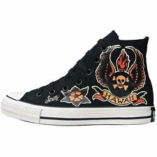 CONVERSE ALL STAR CHUCKS SCHUHE EU 45 UK 11 SKULL LIMITED EDITION VINTAGE HAWAII