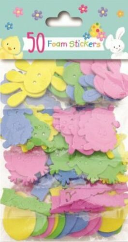 Easter Themed Sticker Set Arts Crafts Egg Hunt Decoration Fun Kids Party Game