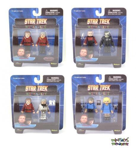 Star Trek Minimates Series 4 Complete Variant Set Picard, Borg, Scotty, McCoy