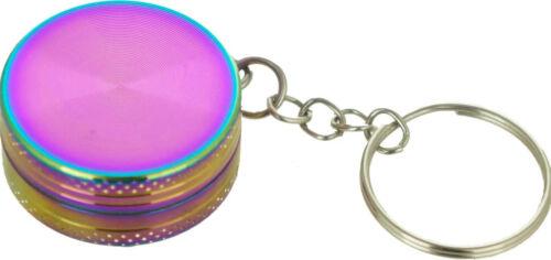 "30mm 1.2/"" Key Chain Grinder Rainbow Color Mini Cute Tobacco Herb Spice Crusher"