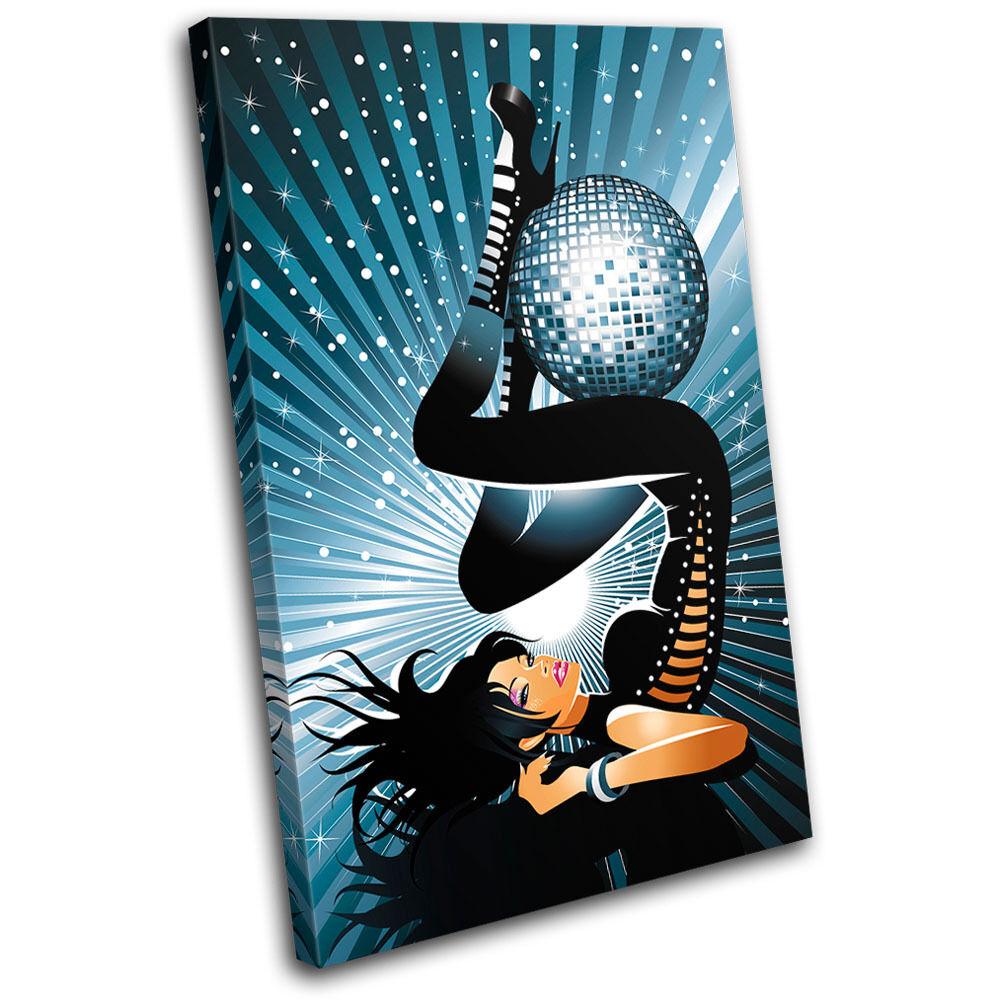 Sexy Disco Girl DJ Club SINGLE TOILE murale ART Photo Print