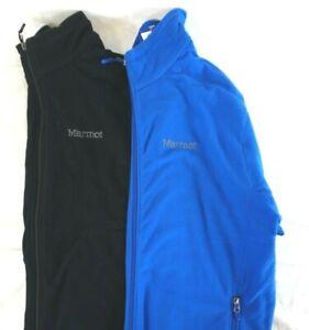 NWT-Marmot-Men-039-s-True-Blue-Black-Ess-Tech-Fleece-Full-Zip-Jacket-S-M-L-2XL