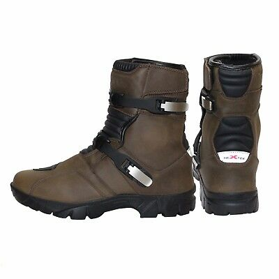Genuine Leather Water Resist Motorbike Adventure Boot Motorcycle Touring Shoes