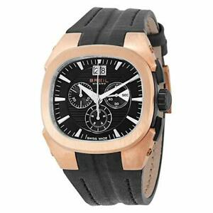 BRAND-NEW-BREIL-MILANO-EROS-GOLD-PLATED-CHRONOGRAPH-BW0413-MEN-039-S-WATCH-LEATHER