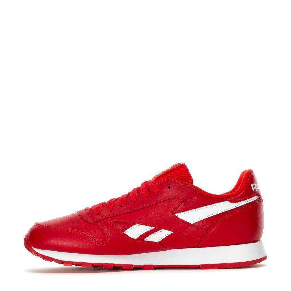 Para hombres Cuero REEBOK CLASSIC CL MU DV6590 PRIMARY Rojo blancoo