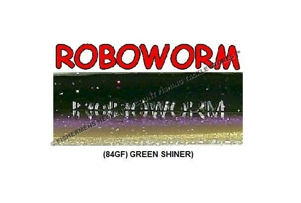 RoboWorm Straight Tail ST-8K1M Mean Green 4.5 Inch Handpoured Drop Shot Lure