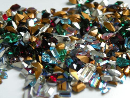 100 Colorful Vintage Swarovski Rhinestones Oval Navette Octagon Baguette More