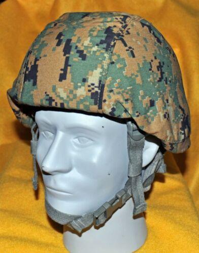 USMC MARPAT MICH Helmet Cover Woodland  NO I//R tab covers  Not Reversible.L//XL