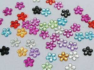 1000-Mixed-Color-Flatback-Flower-Rhinestone-Gem-6mm-DIY-Craft-Embellishments