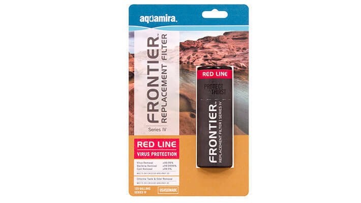 Aquamira Frontier Series IV Red Line Replacement Water Filter Camping Survival