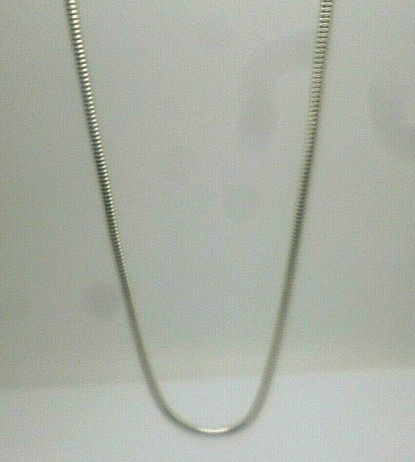 argentoo argentoo argentoo Sterling 23 Pollici Serpente Maglia Catena Con Fibbia Fastener Trigger timbro 925 5395e5