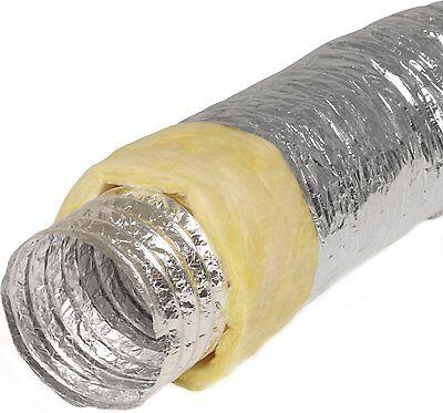 Alu-flexschlauch 160mm Isoliert 10m Lang Alu-flexrohr Lüftungsschlauch Aluminium