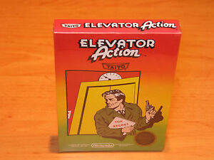 Elevator-Action-Nintendo-NES-1985-Brand-New-amp-Sealed-Black-Label-ULTRA-RARE