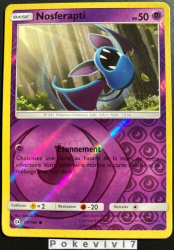Carte Pokemon NOSFERAPTI 54//149 Reverse Soleil et Lune 1 SL1 FR NEUF