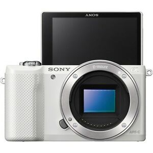 Sony A5000 Mirroless Digital Camera (Body Only) -White -Fedex to USA